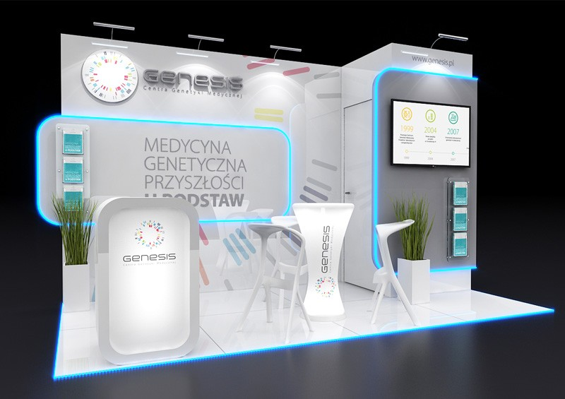 Construction of exhibition stands in Katowice